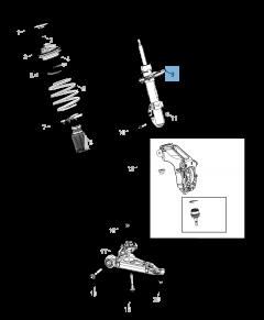 Ammortizzatore anteriore destro per Jeep Cherokee