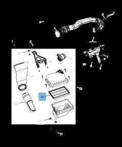 Filtro aria motore per Fiat Freemont
