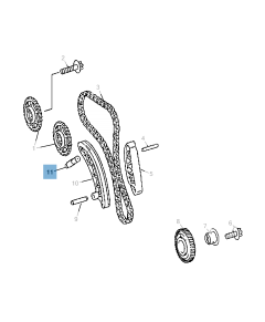 Tendicinghia regolabile per catena di distribuzione per Jeep Compass/Patriot