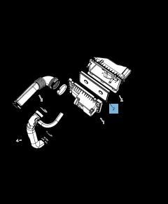 Filtro aria motore per Jeep Compass/Patriot