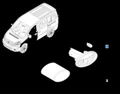 Indicatore di direzione laterale per Fiat Professional Scudo