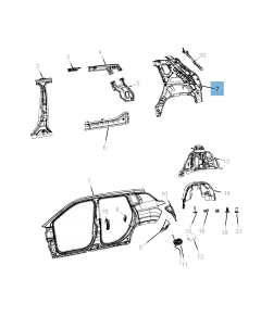 Parafango posteriore per Jeep Compass