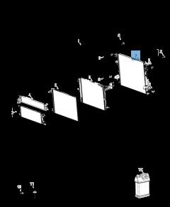 Radiatore per raffreddamento motore per Jeep Wrangler