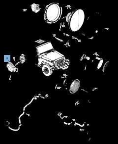 Indicatore di direzione laterale per Jeep Wrangler
