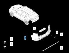 Paraurti posteriore per Alfa Romeo Stelvio