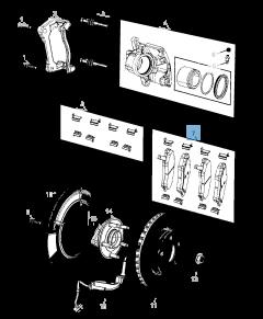 Pastiglia freno disco anteriore (Set 4 pezzi) per Jeep Compass