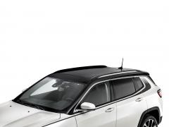 Barre longitudinali cromate per tetto auto per Jeep Compass