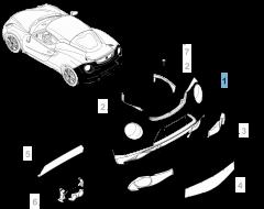 Paraurti posteriore per Alfa Romeo 4C