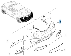 Paraurti posteriore adatto a scarico centrale per Alfa Romeo 4C