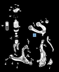 Braccio oscillante per sospensione superiore per Jeep Grand Cherokee
