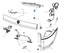Fanale posteriore per Lancia Voyager