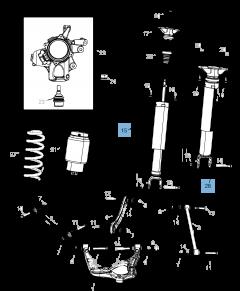 Ammortizzatore posteriore per Jeep Grand Cherokee