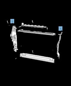 Radiatore laterale per raffreddamento motore per Jeep Compass