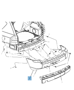 Paraurti posteriore per Jeep Compass/Patriot