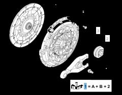 Kit frizione (disco, spingidisco e cuscinetto reggispinta) per Fiat Professional Scudo