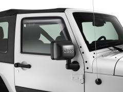Deflettori aria oscurati per finestrini anteriori