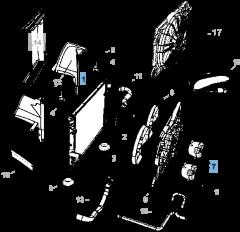 Radiatore per raffreddamento motore per Lancia Thema