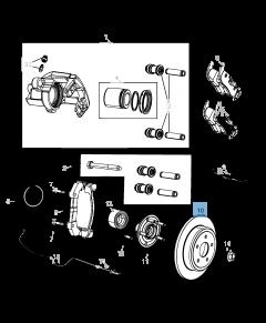 Disco freno posteriore per Jeep Grand Cherokee