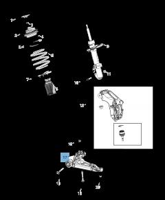 Braccio oscillante per sospensione anteriore inferiore per Jeep Cherokee