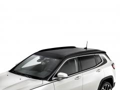 Barre longitudinali nere lucide per tetto auto per Jeep Compass